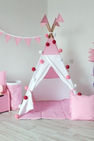 Розовый вигвам для детей